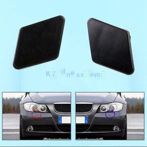 Front-LH-RH-Bumper-Headlight-Washer-Jet-Nozzle-Cover-Cap-For-BMW-3-E90-E91