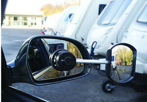 New-Caravan-amp-Trailer-Towing-Car-Safety-Convex-Glass-View-Wing-Mirror-Extensions