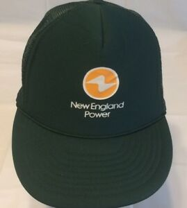 Green New England Power Trucker Hat by Nissin with Adjustable Strap ... 0657a68a84c