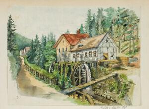 KRUKENBERG-Sophie-Aquarell-Muehle-im-Kuehlen-Tal-1881