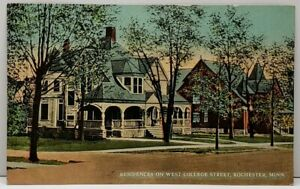 Rochester-Minn-Residences-West-College-St-c1910-Ryder-to-Douglas-ND-Postcard-D9