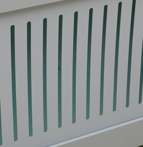 MDF Gris à Lamelles verticales bois Small - 78 x 19 x 82 cm Kensington Radiateur Couverture