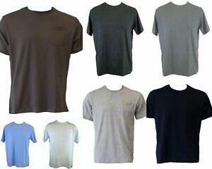 NEW-Men-039-s-Plain-Basic-COTTON-T-SHIRT-White-Black-with-Pocket-Size-S-M-L-XL-XXL