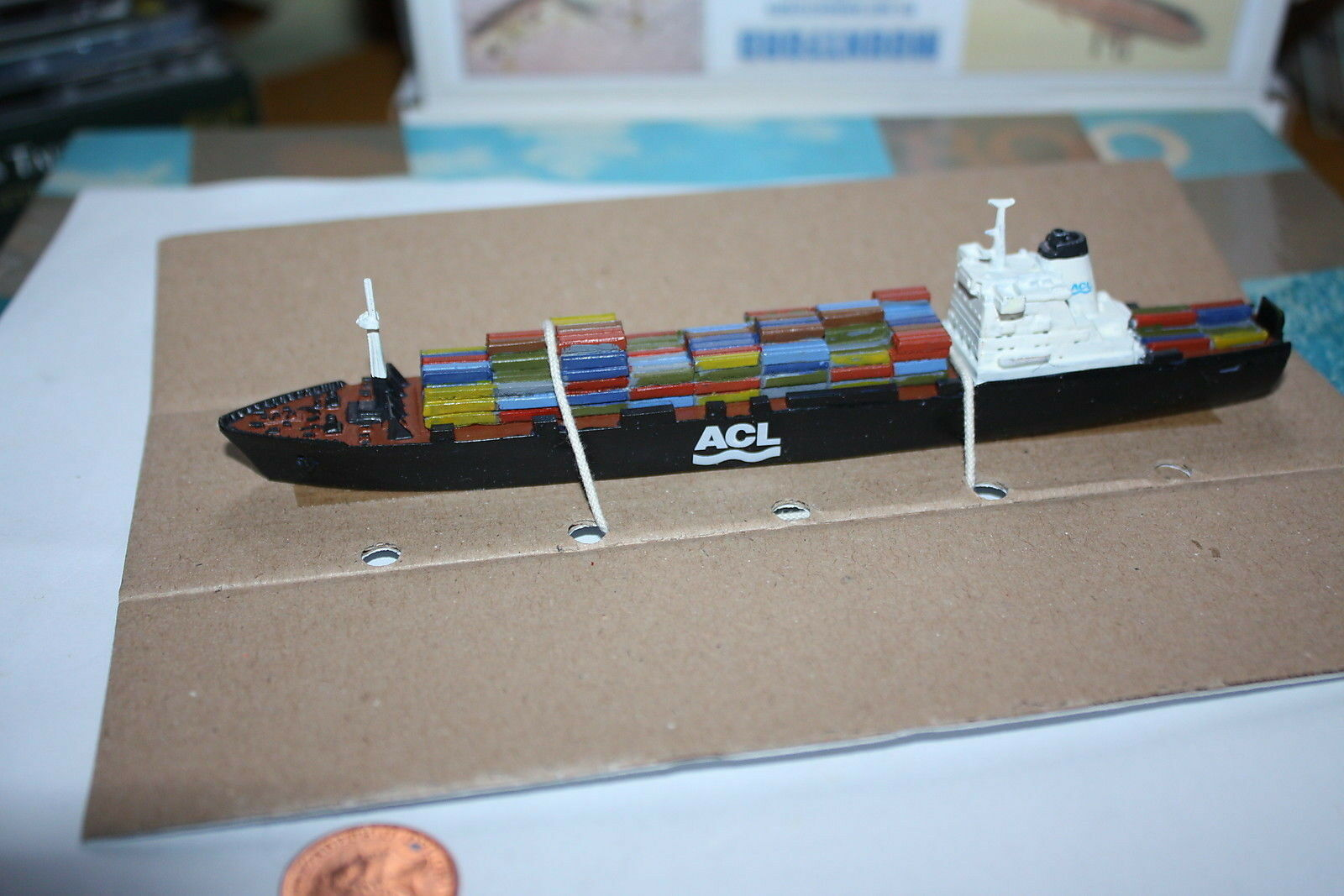 Atlantic Causeway container ship ship fully painted from Mountford Models 1250 scale