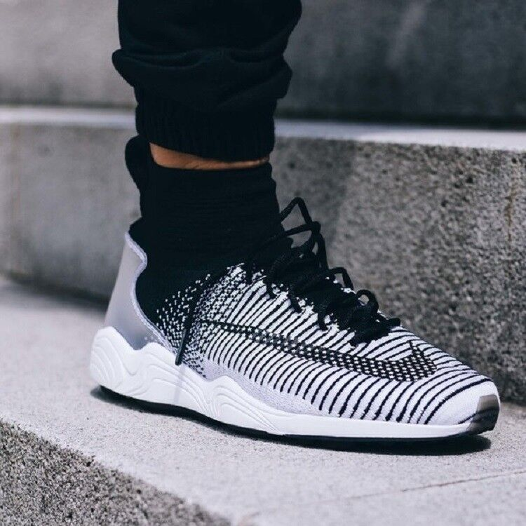 NIKE ZOOM MERCURIAL XI FK FC Flyknit Running Trainers Casual () Black