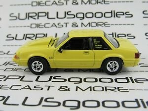 Greenlight-1-64-Scale-LOOSE-Yellow-1988-FORD-MUSTANG-5-0-LX-Foxbody-w-Cowl-Hood