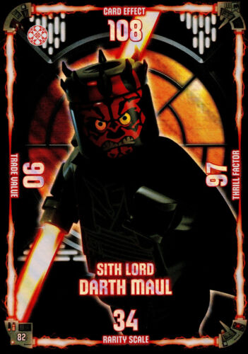 LEGO STAR WARS TRADING CARD SERIE 1 XXL CARTA SPECIALE Sith Lord Darth Maul #82