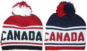 Image is loading Canadian-Winter-Hat-Toque-Canada-Knit-Stitching-amp- f88b821f16e