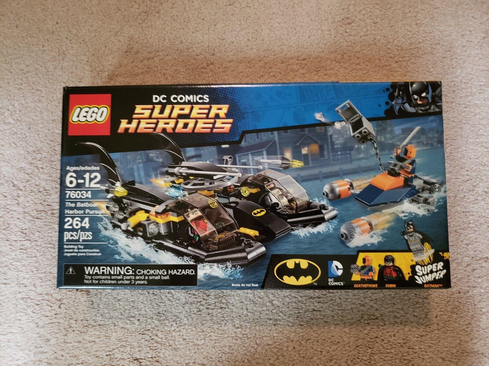 LEGO Batman 76034 DC Super Heroes BATBOAT HARBOR PURSUIT 2015 DEATHSTROKE New