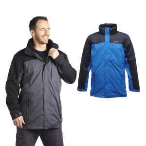 Regatta-Hamond-3in1-Mens-Waterproof-Breathable-Hooded-Jacket-Blue-Size-S