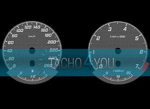 Tachoscheibe-fuer-BMW-3er-E90-amp-5er-E60-Benziner-260-kmh-km-h-M3-M5-526707-Carbon