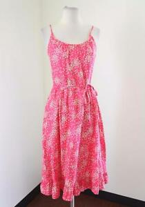 290eb7cbd2170 Vtg Malia Honolulu Pink Floral Dress Sundress Size 10 - XS S Green ...