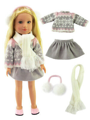 """Fish 2pc Ruffle Swimsuit Fits Wellie Wisher 14.5/"""" American Girl Clothes"""
