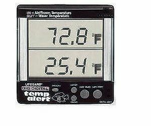 Rainbow Lifegard Big Digital Temperature Alert Aquarium Thermometer