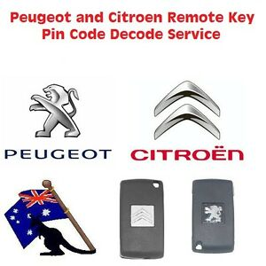 Image is loading Peugeot-Citroen-Remote-Key-Pin-Code-Decode-Service
