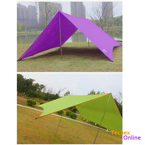 Image is loading Portable-Tent-Shelter-Sun-Shade-Outdoor-C&ing-Beach-  sc 1 st  eBay & Portable Tent Shelter Sun Shade Outdoor Camping Beach Picnic Pad ...