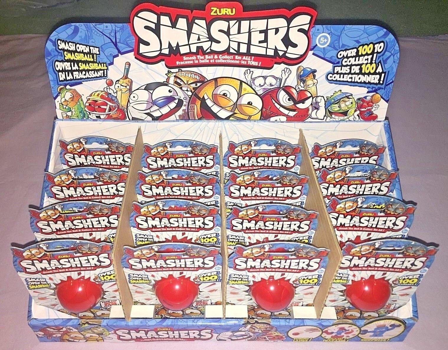 ZURU SMASHERS FULL BOX OF 16 SERIES 1 SPORT SMASHBALLS NEW