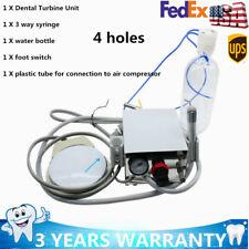 Portable Dental Turbine Unit Work F Compressor3way Syringe Dental Equipment 4h