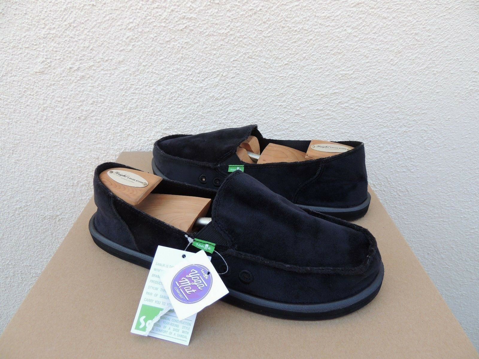f2e0ab3f913 Sanuk Black Donna Velvet Sidewalk Surfer Shoes Women US 7  EUR 38 ...