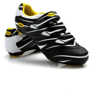 Tiebao-Cycling-Shoes-Road-Bike-Bicycle-Shoes-For-Look-SPD-SL-System-Black-White