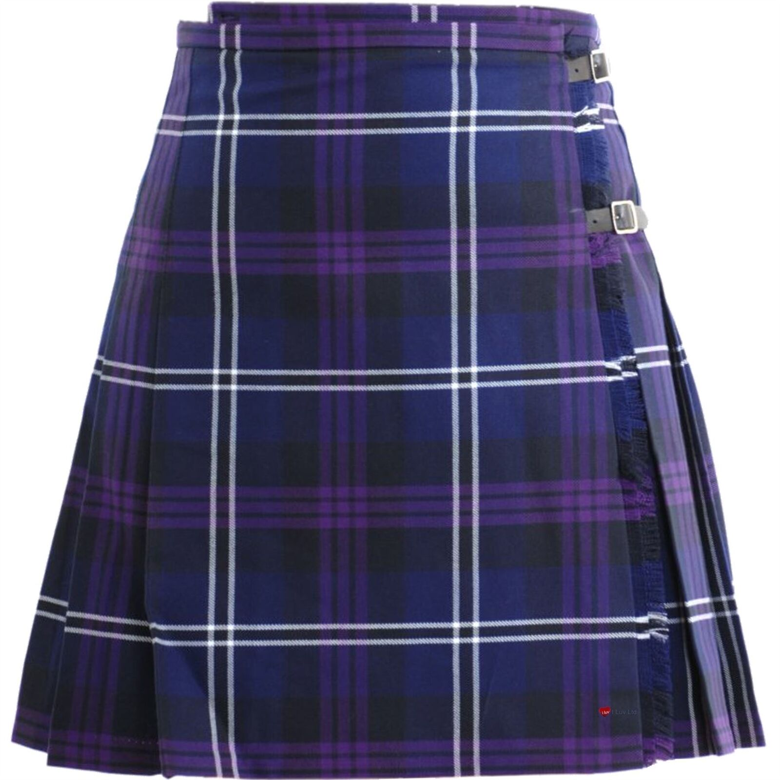 Ladies Deluxe Mini Skirt Kilt Heritage of Scotland Tartan