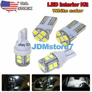 Image Is Loading 8x White Led Map Dome Light Interior Bulb