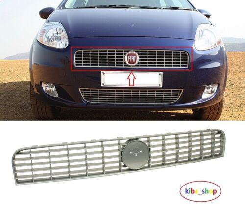 FIAT GRANDE PUNTO 2005-2011 anteriore griglia radiatore superiore d/'argento tra fari