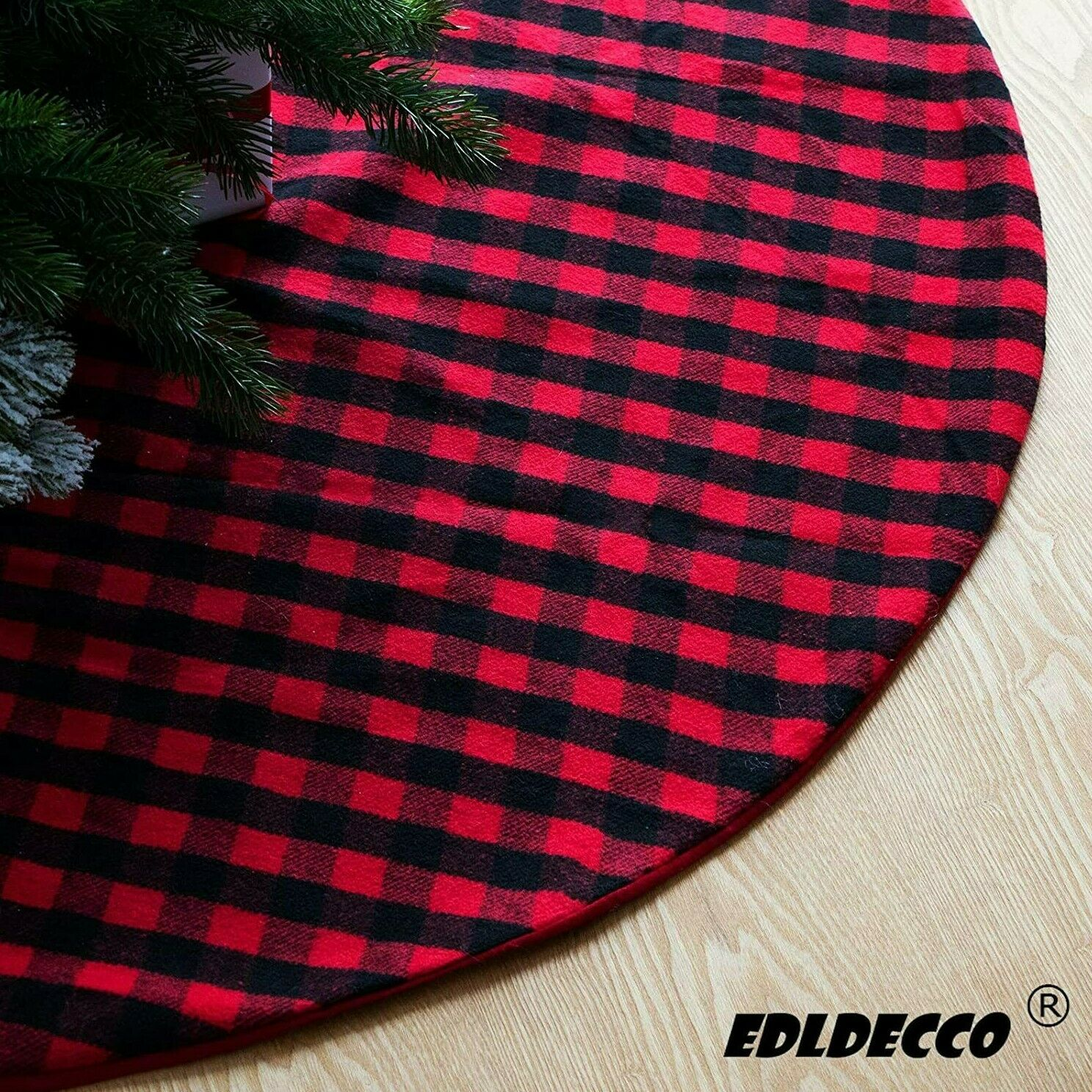 Seasonal Decor Red And Black S Deal Buffalo Plaid Christmas Tree Collar Top 23inch Bottom 30inch Christmas Tree Skirt Tree Ring Self Assemble Tree Ring For Xmas Holiday Decorations Home Kitchen Fenz Si