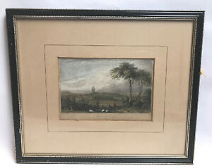 Feversham-Kent-drawn-by-Bartlett-Engraving-by-J-Rogers-Antique-Framed-Mounted