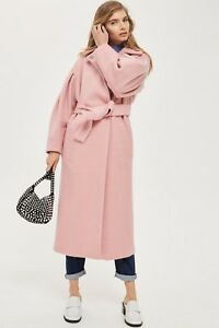 Topshop   Pink Mutton Sleeve Belted Coat   Uk14 ≪≫ Was: £129.99   Now: £69.99!! by Ebay Seller