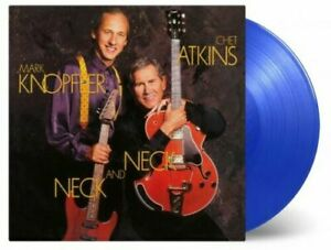 Chet-Atkins-And-Mark-Knopfler-Neck-And-Neck-LP-Vinyl-Numbered-BLUE-NEW