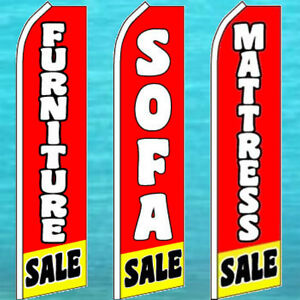 Mattress Sale,Clearance Sale Welcome King Swooper Feather Flag Sign Kit with Pole and Ground Spike Pack of 3