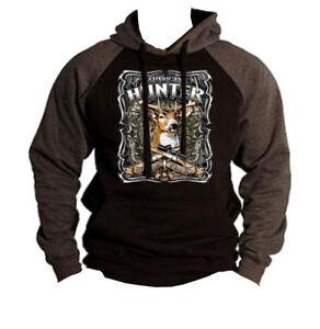 American Hoodie Hunter Deer Hunting Usa Mossy Men's Charcoal Sweatshirt Raglan Zwd1fqI7