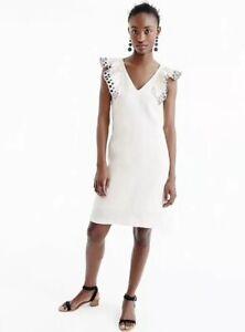 1703228b70ea Image is loading NEW-JCrew-Collection-Ruffle-Shoulder-Sheath-Dress-Size-