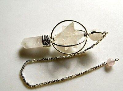 Ball /& Pencil Dowsing Pendulum Rose Quartz Pendulum Pendant Quartz Jewelry Quartz Pendulum Healing Pendulum Necklace