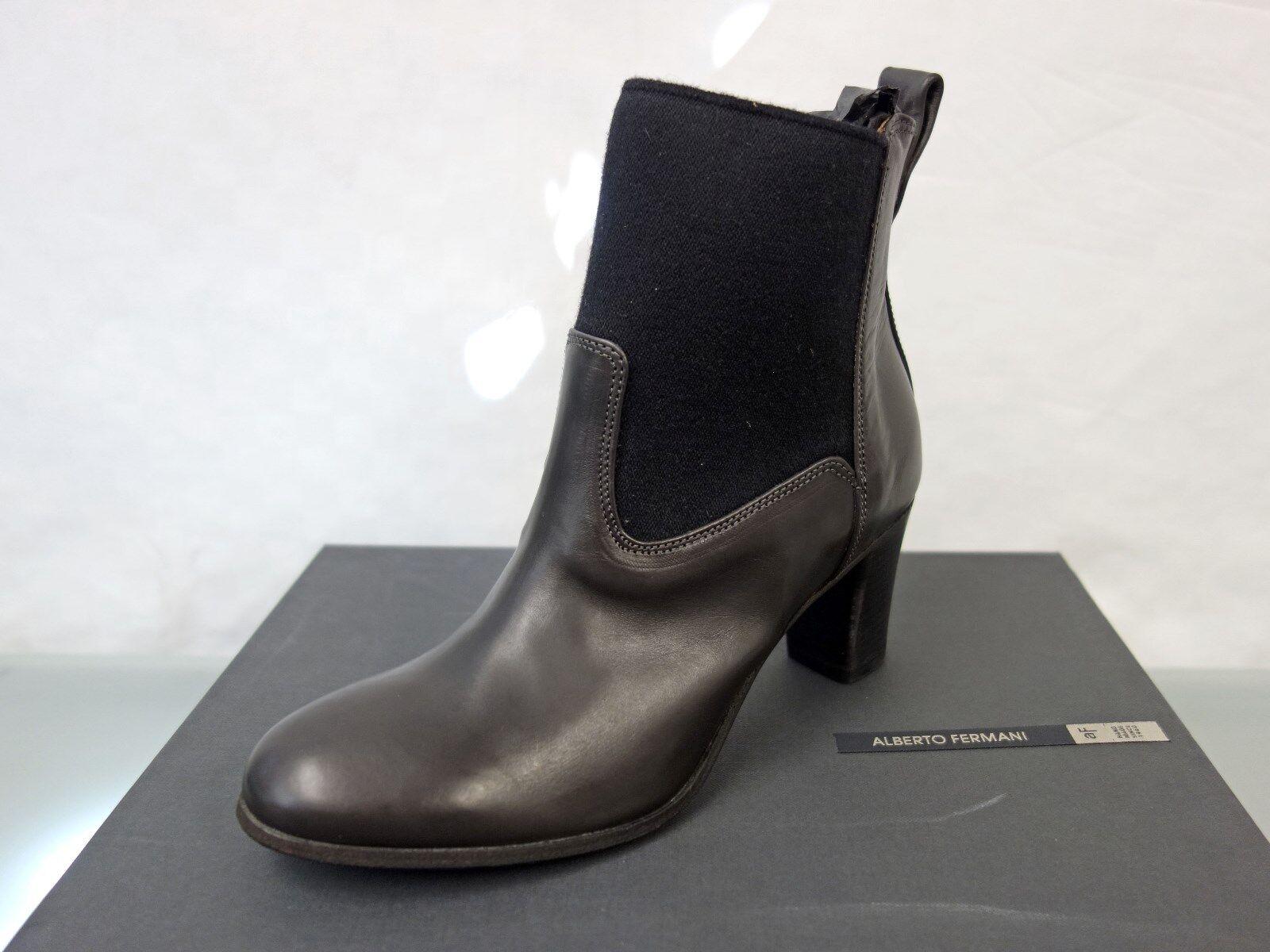 299 nuevo Alberto Fermani botas de cuero botín talla 36,5 botines negro