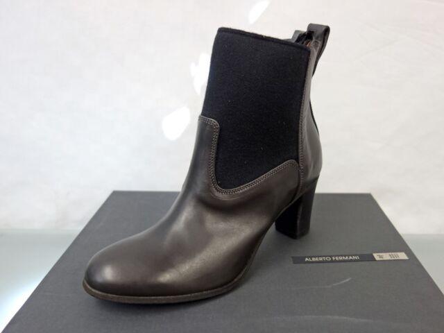 299€ NEU ALBERTO FERMANI Stiefel Stiefelette Gr.36,5 Ankle Boots Grau/Schwarz
