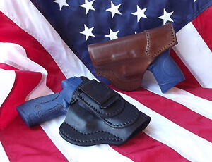 J&J SIG SAUER P228 P229 W/ RAILS TUCKABLE IWB INSIDE WASITBAND LEATHER HOLSTER