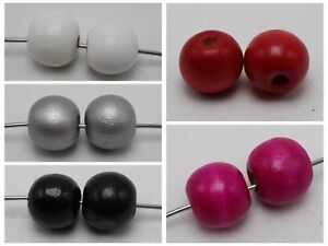25-Large-Round-Wood-Beads-20mm-Wooden-Beads-5-Color-for-Choice-Jewelry-Craft-DIY