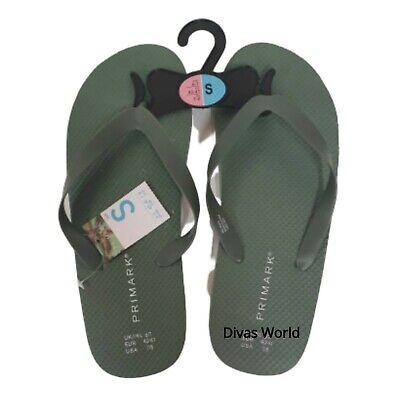 Primark Men/'s Khaki Flip Flop Summer Beach Pool Light Weight Slippers