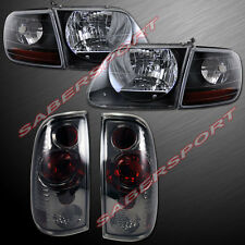1997.8-2003 FORD F-150 SVT STYLE BLACK HEADLIGHTS + CORNER + ALTEZZA TAIL LIGHTS