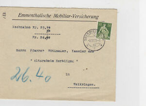 Switzerland 1933 Postal History Stamps Cover Ref: R7800