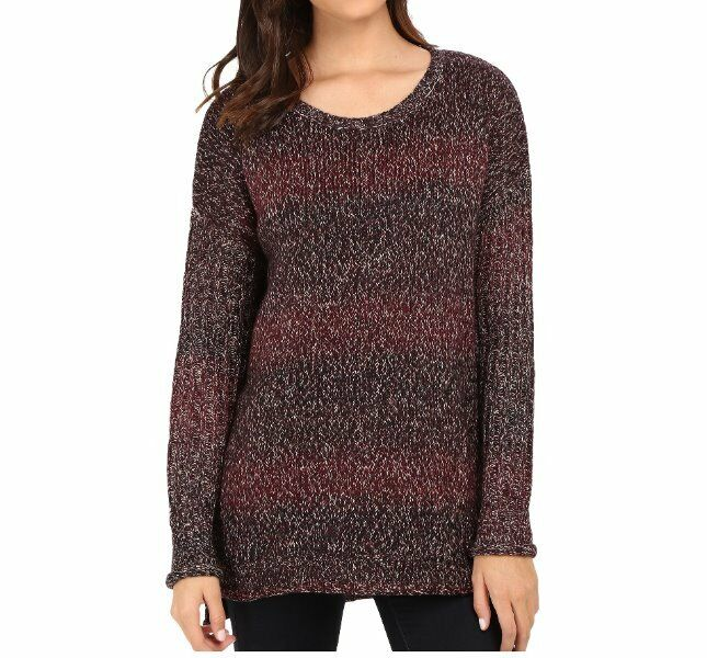 Sanctuary Sweater SZ XL Mulberry Mink Northern Casual Knit Long Sleeve Sweater