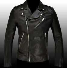 NEW $1260 DIESEL Black Motorcycle Biker Style Leather Jacket Veste Coat L LARGE