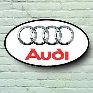 Audi Logo 0 6 M Gross Garage Zeichen Wand Plakette Auto Klassisch