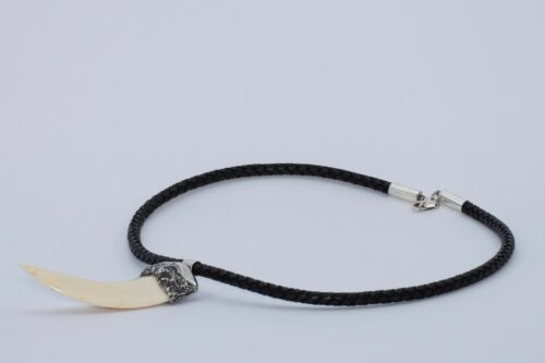 Tusk necklace Natural jewelry mens Fashionable 100/% natural wild boar pendant
