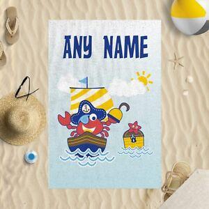 "58/""x39/"" Personalised Any Name Fruit Microfibre Beach Towel Sun Bathing Pool Swim"