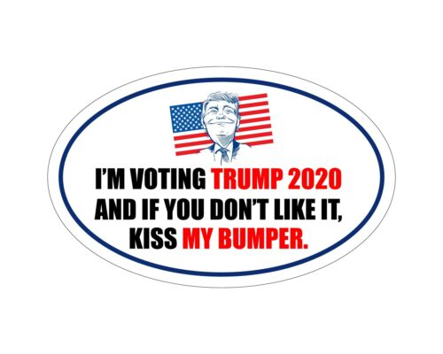 *Oval Car Magnet* Trump 2020 I/'m Voting Trump TO422