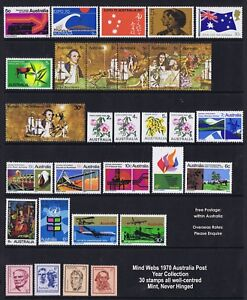 Australian-Year-Collection-1970-Set-30-MNH-inc-Cook-Strip-5-and-F-Austs-4
