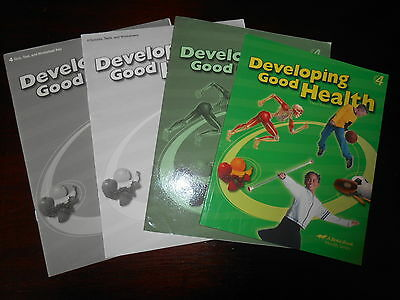 A Beka Developing Good Health set homeschooling 4th grade  textbook/teacher lot